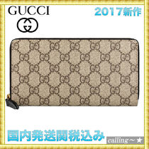 セレブ愛用者多数☆GUCCI☆GG Supreme zip around wallet