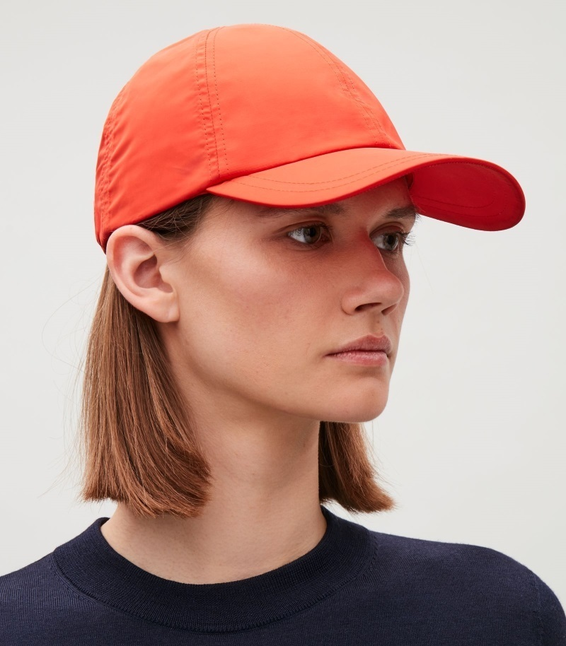 """COS""SATIN-TWILL BASEBALL CAP ORANGE"