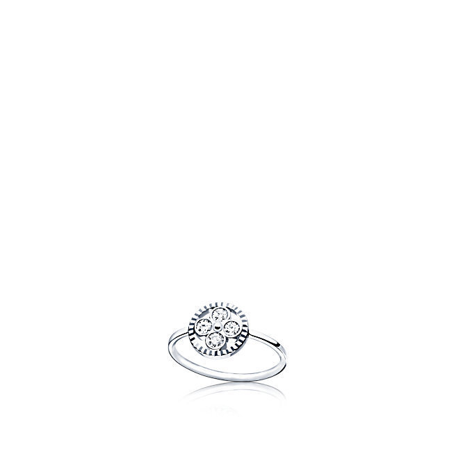 希少VUITTON Bague Diamond Blossom BB en or blanc et diamants