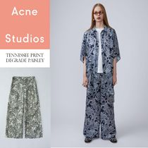 ACNE Tennessee degrade paisley ペイズリー軽キュプロパンツ2色