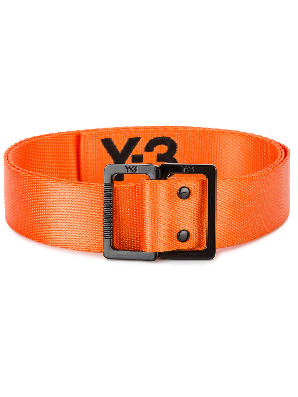 Orange nylon Embroidered woven belt from Y-3.