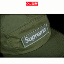 AW17 Supreme(シュプリーム)WASHED CANVAS NYLON CAMP CAP/olive