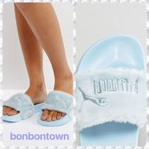 【送関込】Puma X Fenty Faux Fur Slider Sandals/blue2