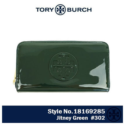 Tory Burch 長財布 18169285 Stacked patent zip Continental