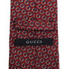 GUCCI ネクタイ 38 GUCCI グッチ 新品本物 総柄 ワインレッド SILK100% ネクタイ(7)