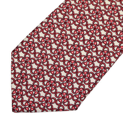 GUCCI ネクタイ 40 GUCCI グッチ 新品本物 総柄 ピンク SILK100% ネクタイ(3)