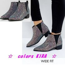ASOS ADMISSION Wide Fit Pointed Ankle Boots♪