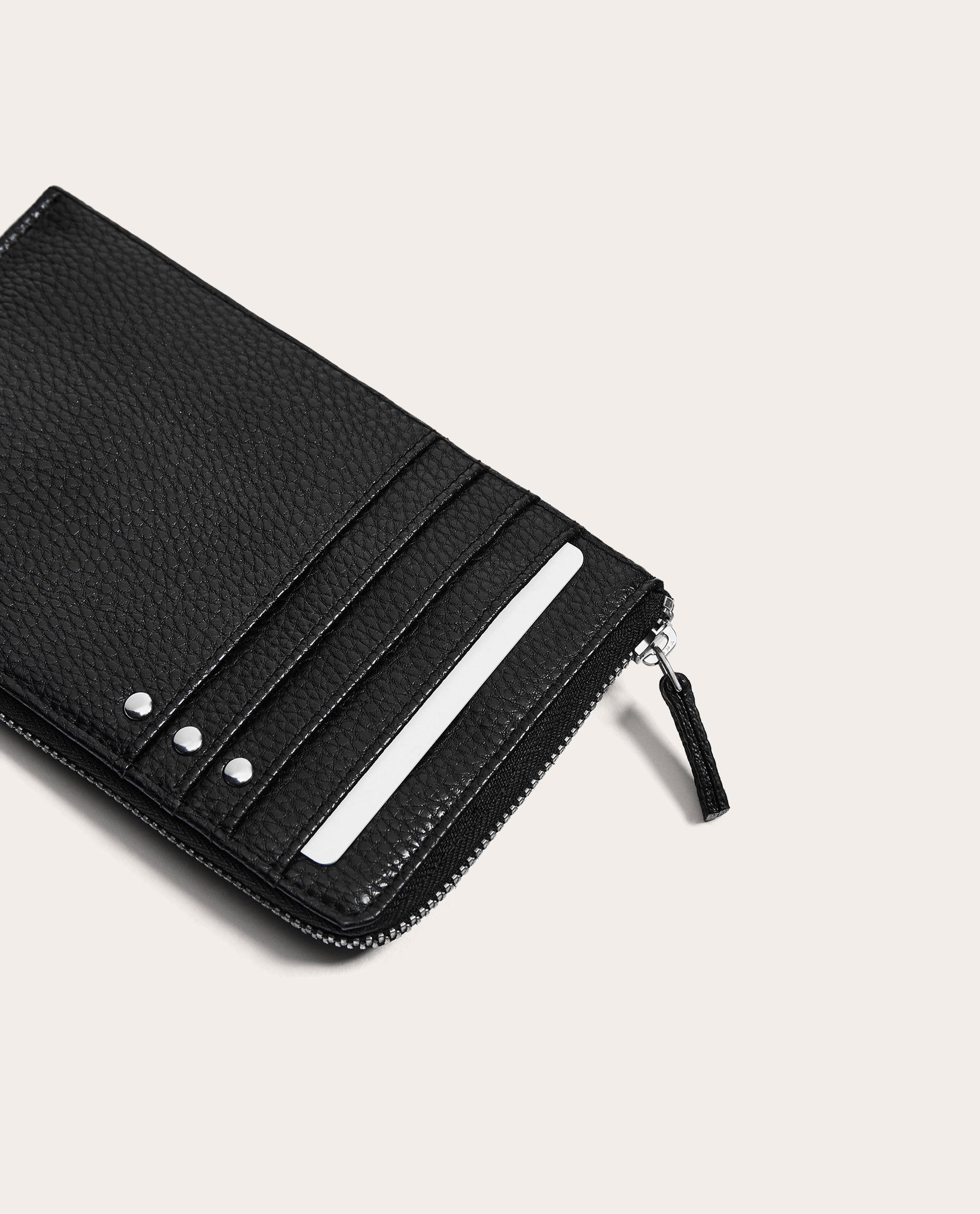 ●ZARA●秋新作♪BLACK MOBILE PHONE CASE WITH CARD HOLDER