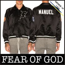 ★【FEAR OF GOD】サテン Satin Manuel Baseball Coaches Jacket