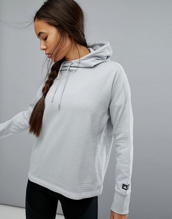 adidas Reigning Champ Fleece Hoodie In Grey