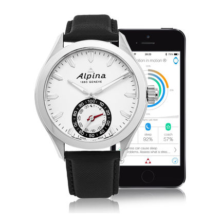 Alpina(アルピナ) Horological Smartwatch Silver Dial Men's