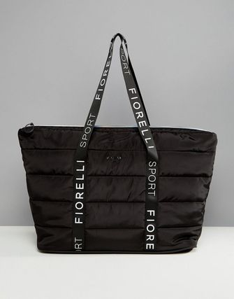 Fiorelli Sport Puffer Padded Holdall Bag in Black