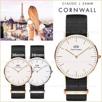 送料税込【Daniel Wellington】CLASSIC CORNWALL☆36mm/国内発送