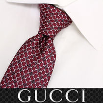 41 GUCCI グッチ 新品本物 総柄 レッド SILK100% ネクタイ
