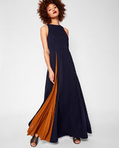 TED BAKER Contrast pleat maxi dress ワンピース