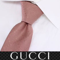 43 GUCCI グッチ 新品本物 総柄 ピンク SILK100% ネクタイ