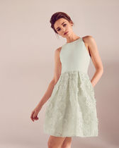 TED BAKER Floral lace A-line dress ワンピース