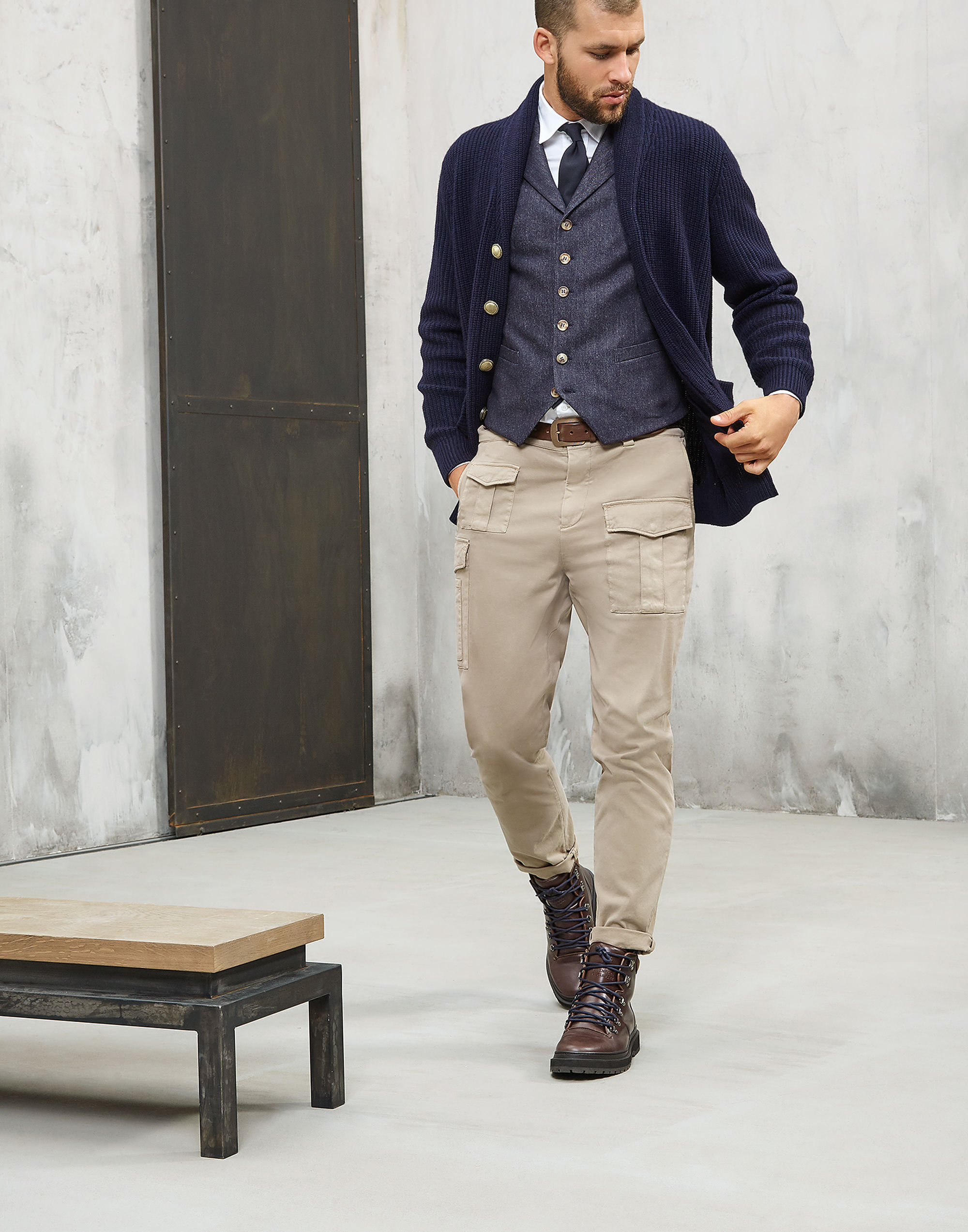 【17AW NEW】BRUNELLO CUCINELLI_men / ウールデニム ジレ