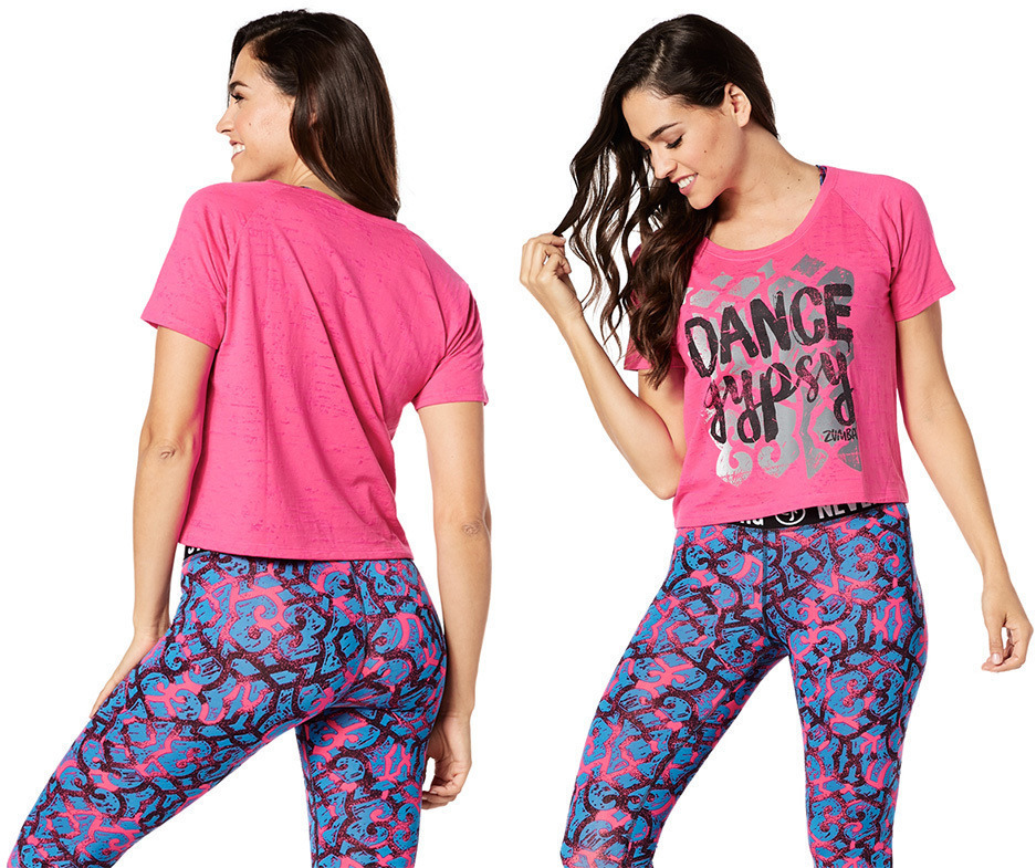 【関送込】ZUMBA ズンバ Dance Gypsy Tee - Shocking Pi Tシャツ