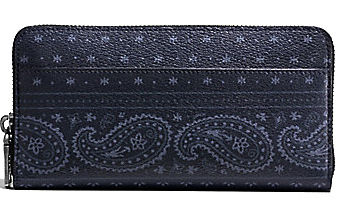 Coach 長財布 COACH ACCORDION WALLET IN PRAIRIE BANDANA PRINT PVC CANVAS