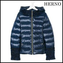 HERNO(ヘルノ) キッズアウター 【関税/送料込】HERNO BLUE SATIN DUVET BLUE TEEN 国内発送