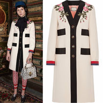 17-18AW WG283 LOOK17 EMBROIDERED WOOL COAT