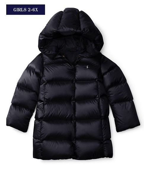 新作♪ 国内発送 2色QUILTED HOODED DOWN COAT girls 2~6X