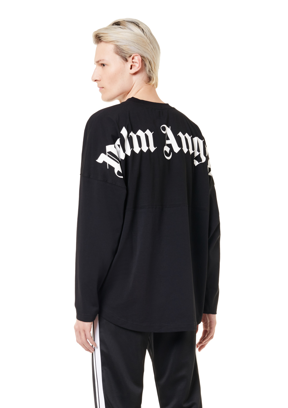 LOGO OVER TEE L/S BLACK