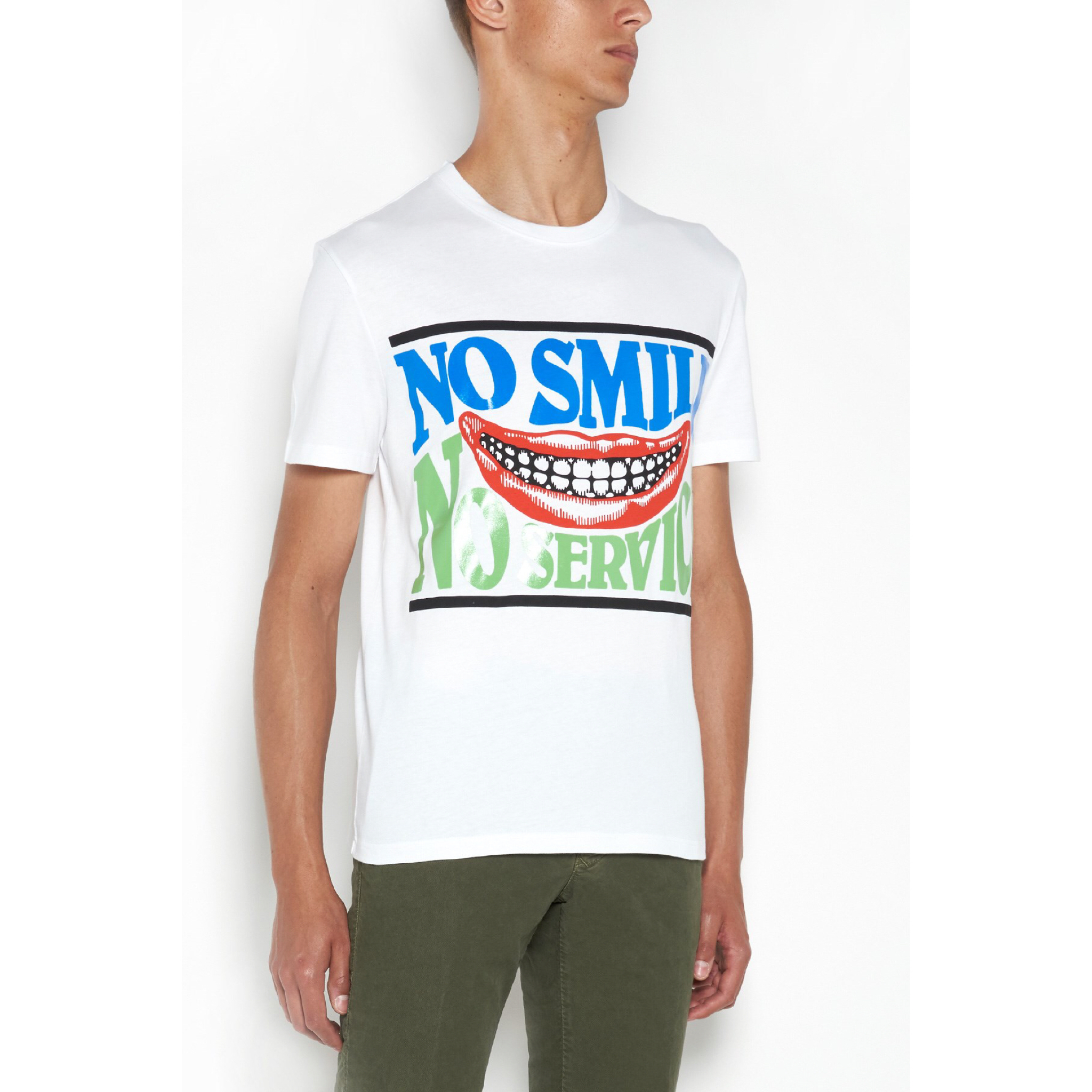 新作【Stella McCartney】No Smile No Service Tシャツ