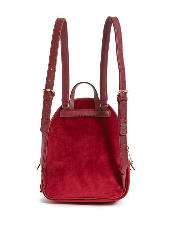 【送料込】大人気★GUESS ゲス BRANDYN SMALL VELVET BACKPACK