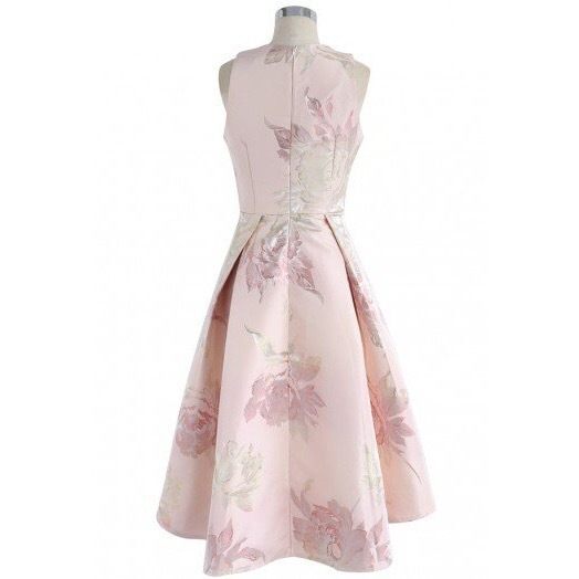 国内発・送関込み☆Chicwish☆Peony Jacquard Waterfall Dress
