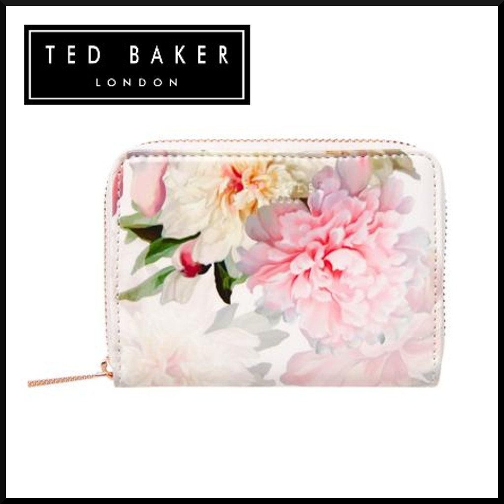 Ted Baker◆Chilli Floral Small Ziparound Purse◆送&関無料