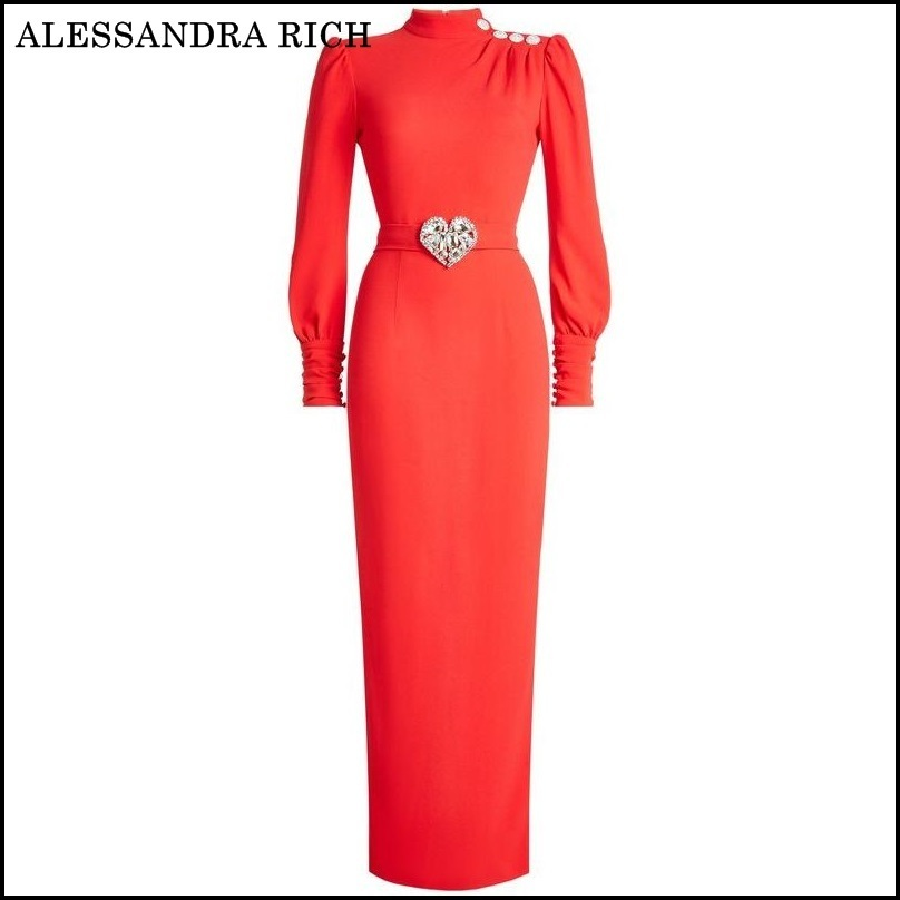 ALESSANDRA RICH★Floor Length Gown with Embellishment