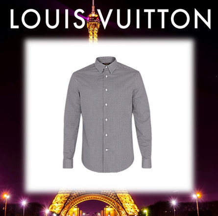 17AW◆LOUIS VUITTON◆マイクログリッドシャツ