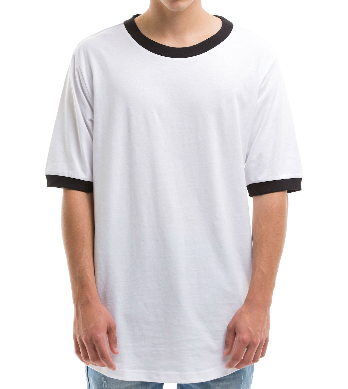 RAREFIED CLOTHING SCOOP CUT SHORT SLEEVE T-SHIRT WHITE