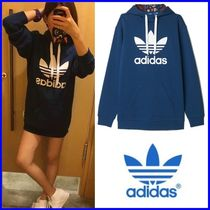 ☆adidas☆_originals blue Trefoil long Hoodie  [SIZE:S~XL]