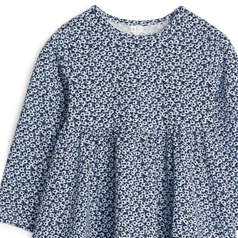 """ARKET""Cotton Jersey Dress Flower Blue"