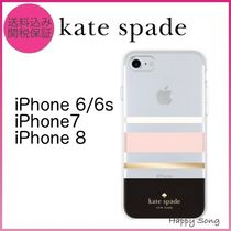 kate spade◆iPhone 6/7/8◆可愛いストライプ◆クリア