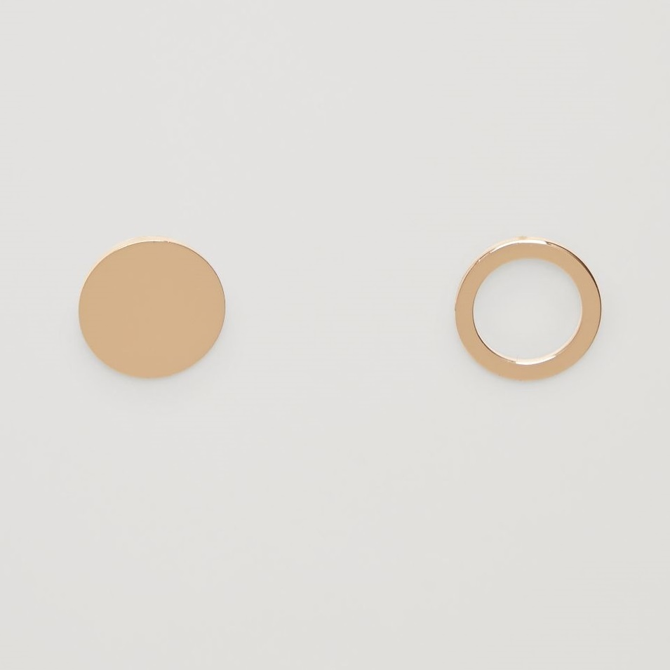 """""""COS""""CIRCLE DISC EARRINGS GOLD"""