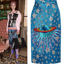 17-18AW WG289 LOOK21 PLANET SEQUINED MIDI SKIRT