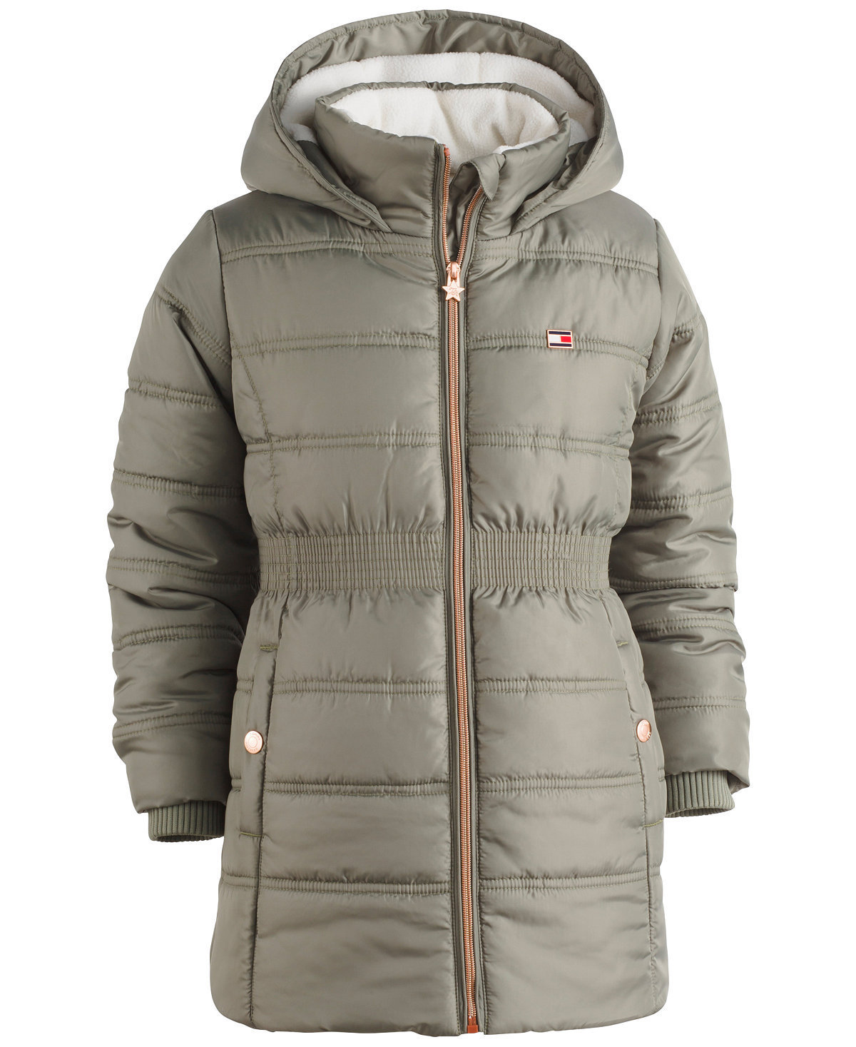 【Tommy Hilfiger 】Hooded Quilted Puffer Coat ロゴ 大人OK