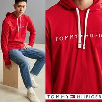 【Tommy Hilfiger】新作/送料込★トミーロゴ入りフーディRed