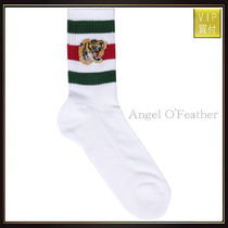 【グッチ】Stretch Cotton Socks With Tiger アンダーシャツ