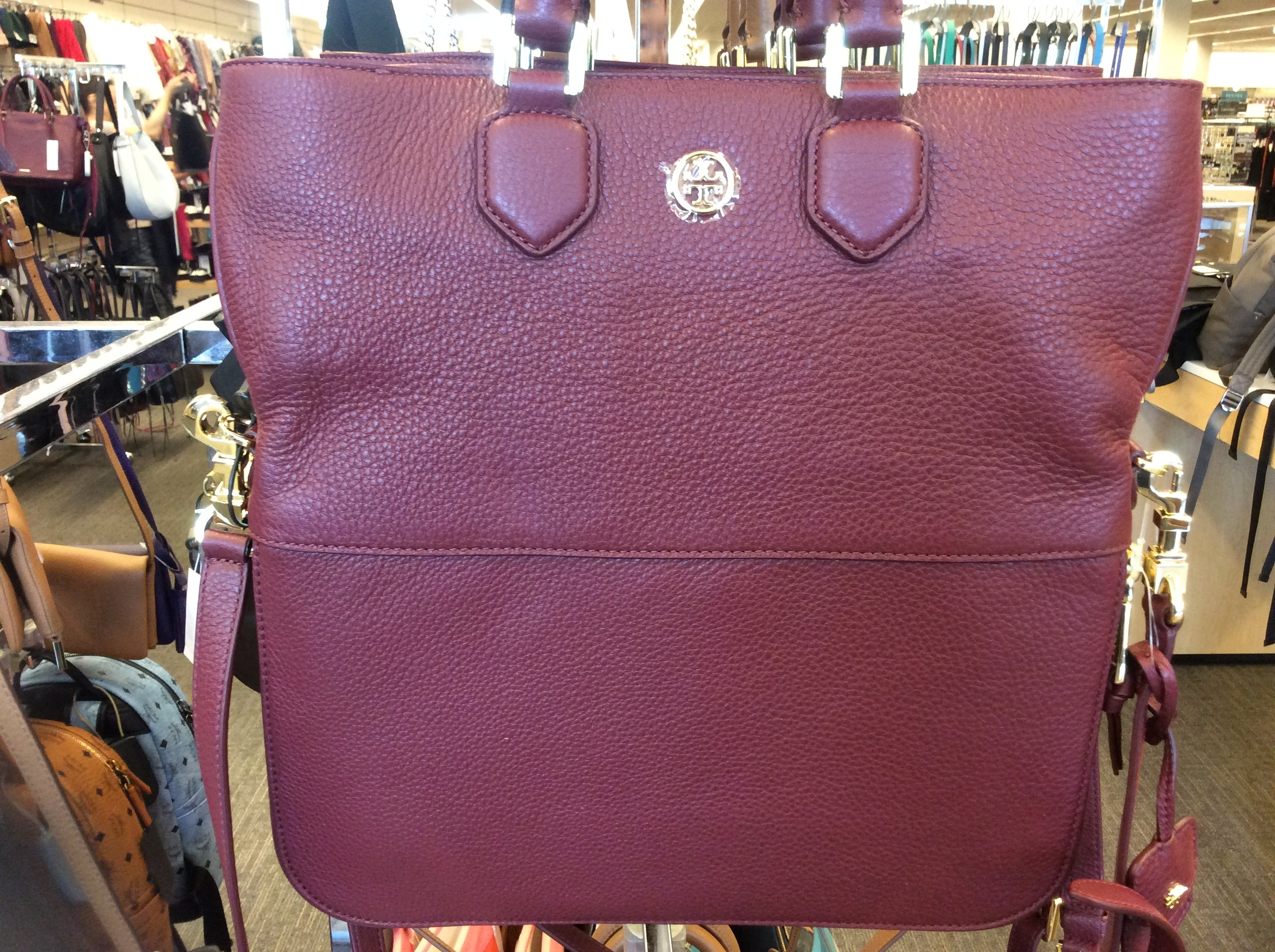 【Tory Burch】2WAY Robinson Pebbled Fold-over Messenger(正規