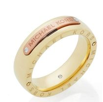 完売まじか![Michael Kors] Two-Tone Logo  Ring