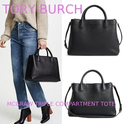 Tory Burch トートバッグ セール★Tory Burch★MCGRAW TRIPLE COMPARTMENT TOTE
