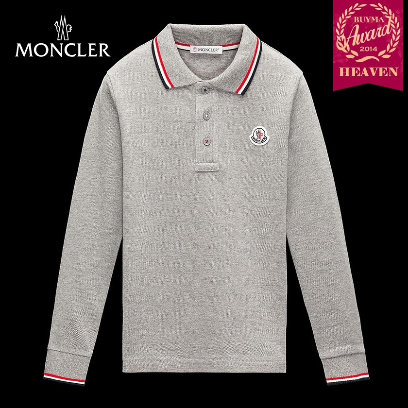 TOPセラー賞受賞!17AW┃MONCLER★4-6歳_POLO_ライトグレー