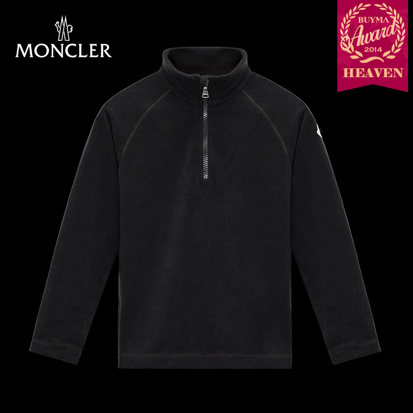 TOPセラー賞!17AW┃MONCLER★4-6歳_MOCK POLO NECK_ブラック