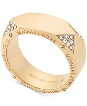 Michael Kors/Gold-Tone Stainless Steel Wide Ring★指輪★