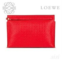 LOEWE★ロエベ T Pouch Repeat Primary Red